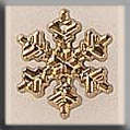 12036 - Small Snowflake Gold 12mm - 1 per pkg